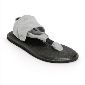 Grey Sanuk Yoga Sling sandals
